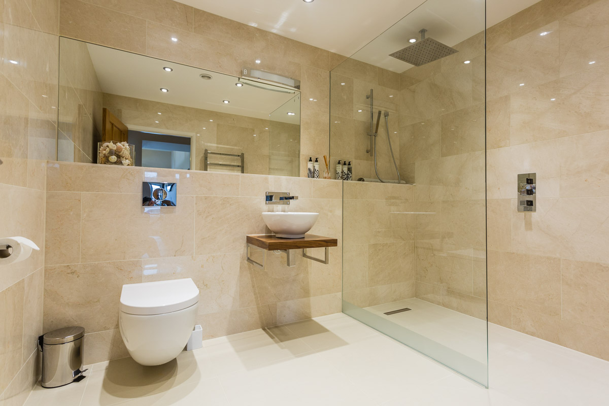 Stunning bath and shower rooms